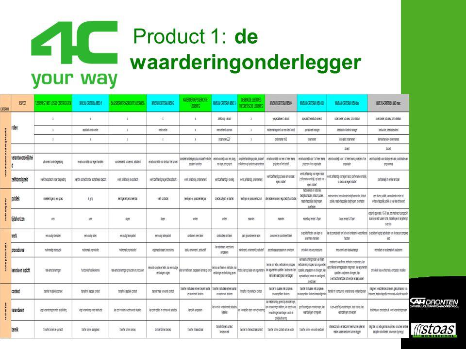 Product 2: 25 competentiebeschrijvingen voor elk van de 11 leerwegen op basis van context en groei