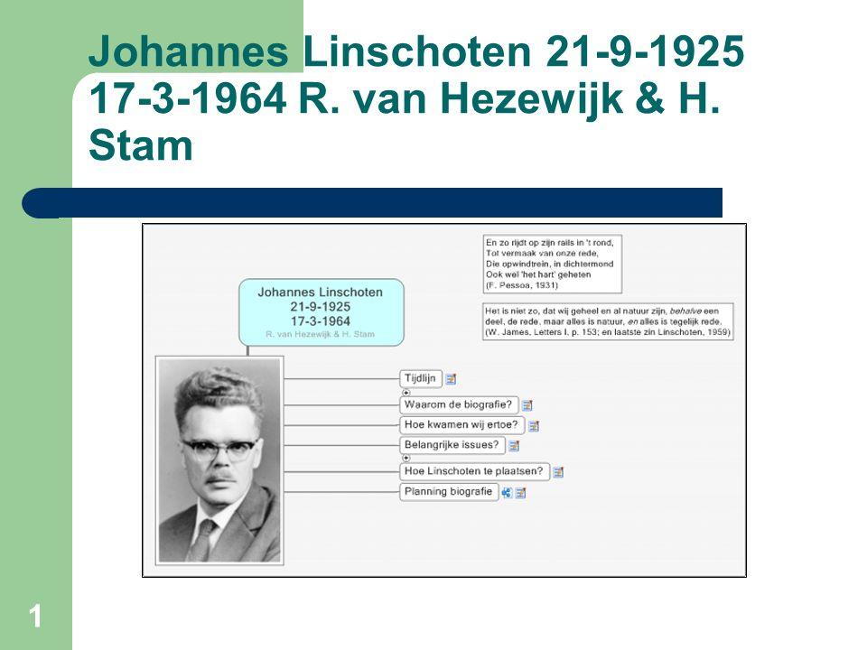 1 Johannes Linschoten 21-9-1925 17-3-1964 R. van Hezewijk & H. Stam