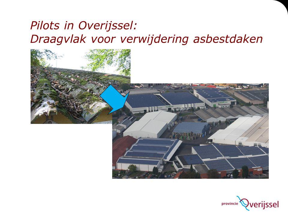 Pilots in Overijssel: Draagvlak voor verwijdering asbestdaken