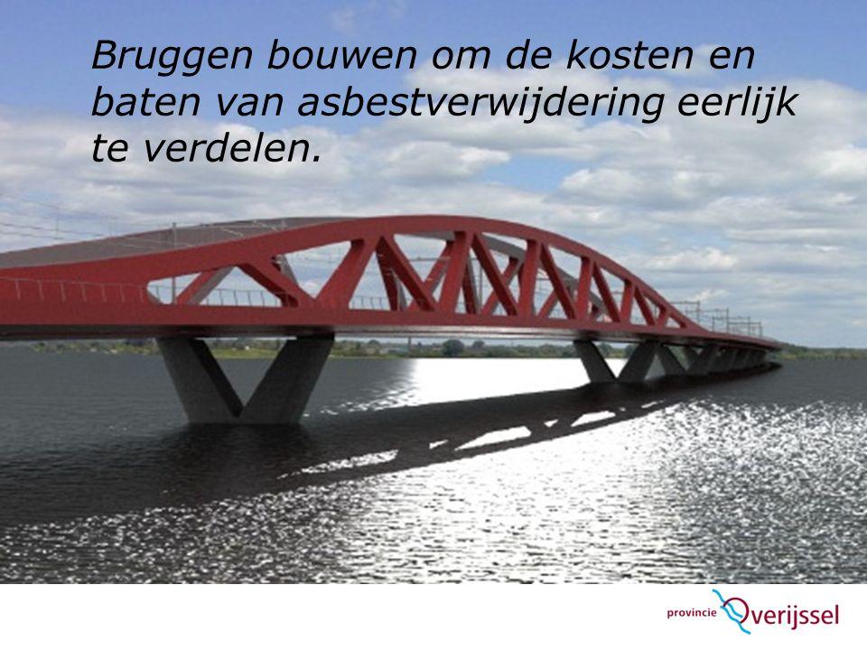 Bruggen bouwen om de kosten en baten van asbestverwijdering eerlijk te verdelen.
