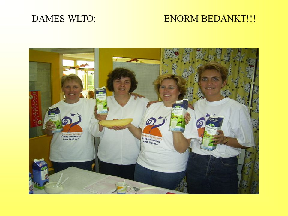 DAMES WLTO: ENORM BEDANKT!!!