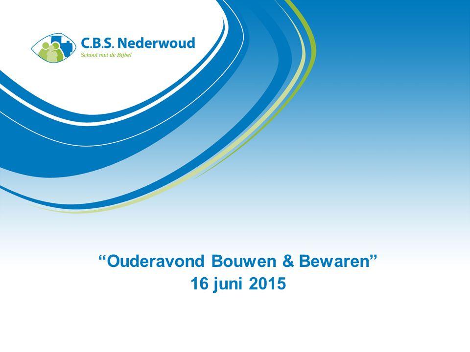 Ouderavond Bouwen & Bewaren 16 juni 2015