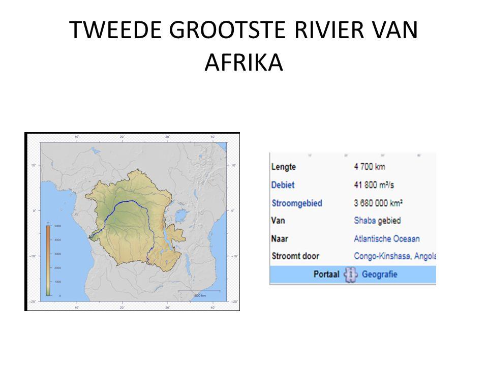 TWEEDE GROOTSTE RIVIER VAN AFRIKA