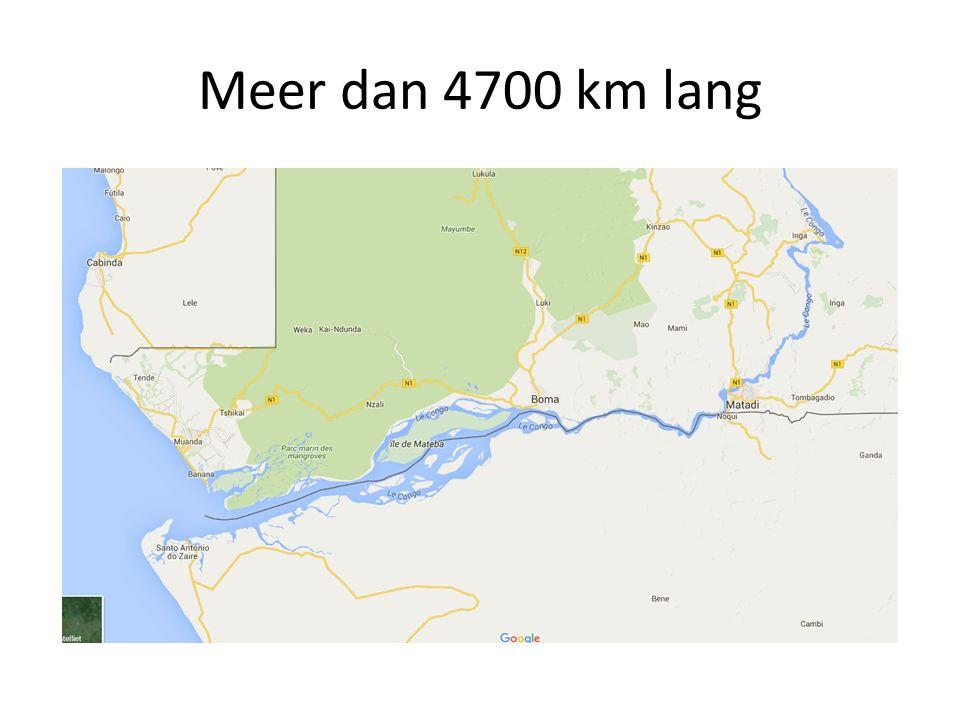 Meer dan 4700 km lang