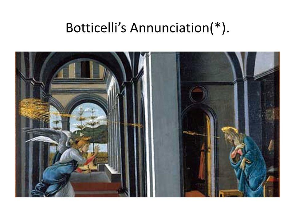Botticelli's Annunciation(*).