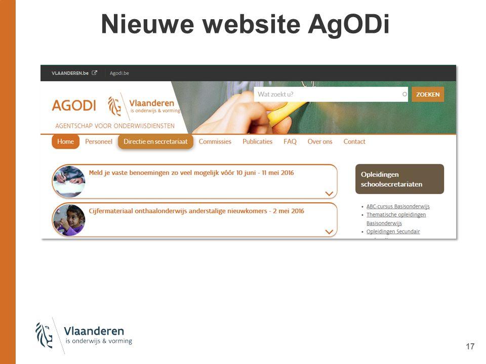 Nieuwe website AgODi 17