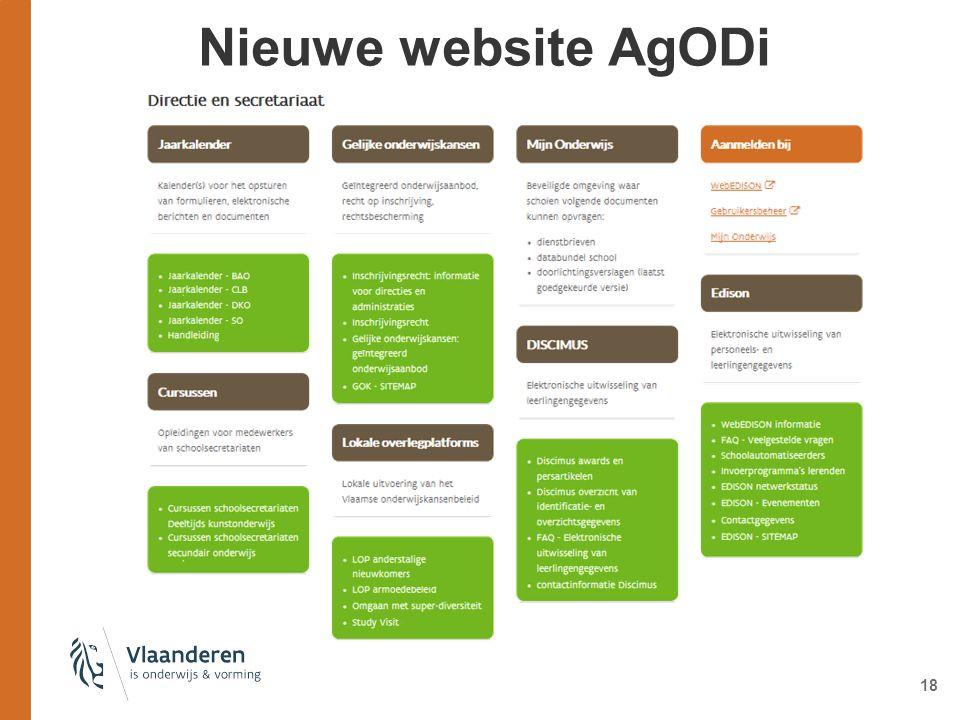 Nieuwe website AgODi 18
