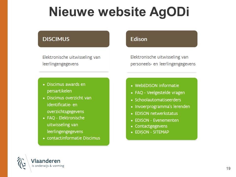 Nieuwe website AgODi 19