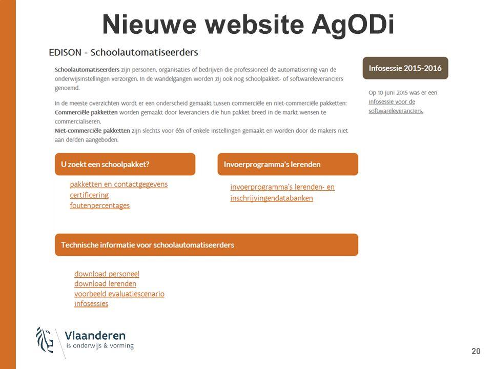 Nieuwe website AgODi 20