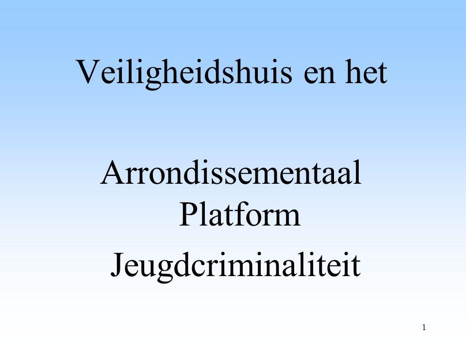 1 Veiligheidshuis en het Arrondissementaal Platform Jeugdcriminaliteit