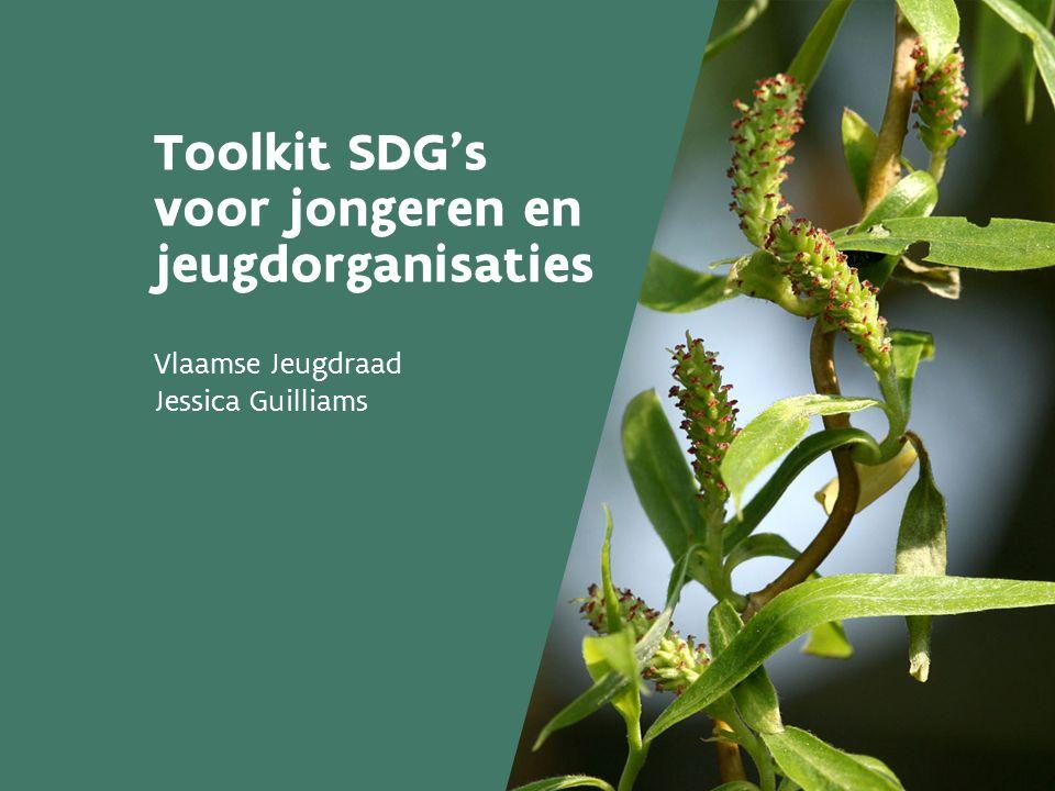 Toolkit SDG's voor jongeren en jeugdorganisaties Vlaamse Jeugdraad Jessica Guilliams