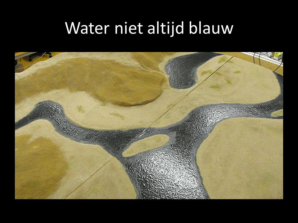 Water niet altijd blauw