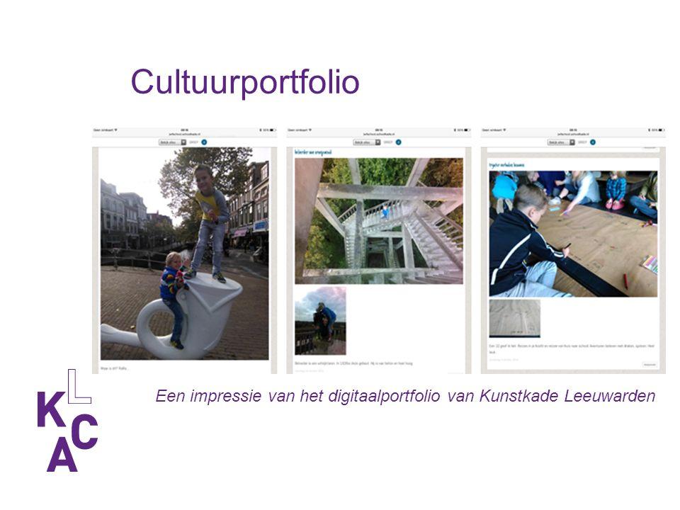 Een impressie van het digitaalportfolio van Kunstkade Leeuwarden Cultuurportfolio