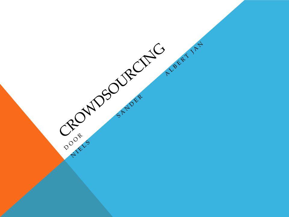 INHOUD o Wat is Crowdsourcing o Welke mogelijkheden biedt het o Filmpje 'wat is Crowdsourcing?' o Oefening met de klas o Praktijkvoorbeelden o Voordelen en nadelen