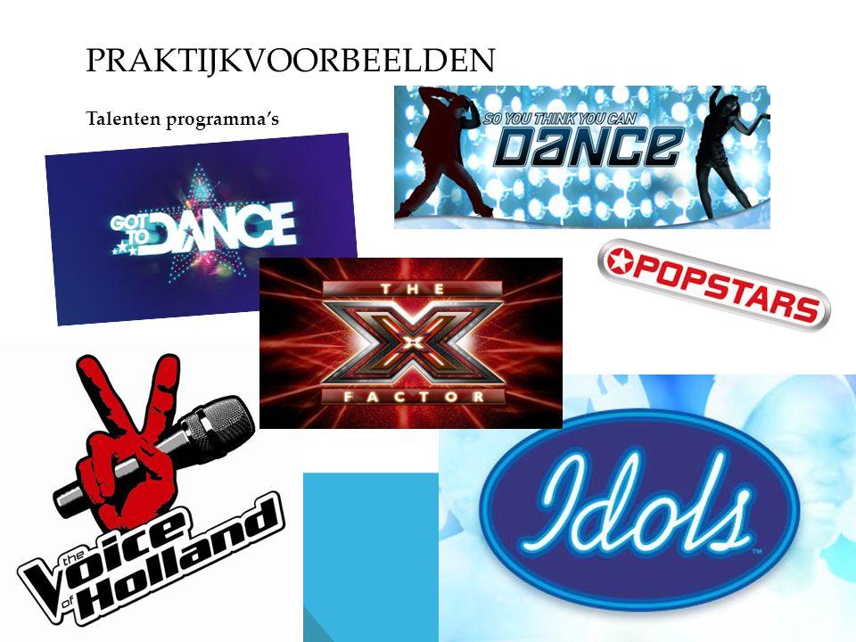 PRAKTIJKVOORBEELDEN Talenten programma's