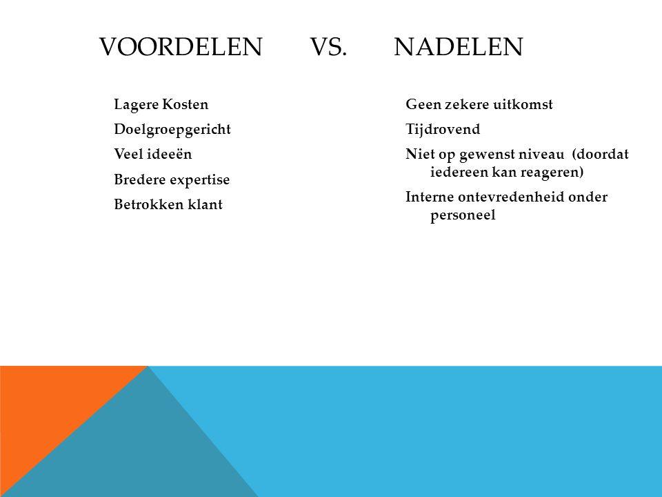VOORDELEN VS.