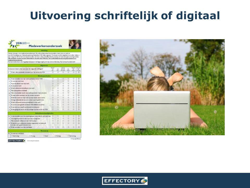 Uitvoering schriftelijk of digitaal