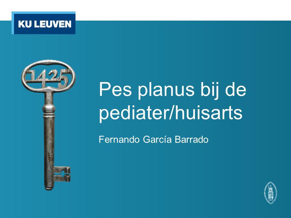Pes planus bij de pediater/huisarts Fernando García Barrado