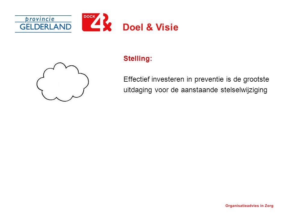 Doel & Visie Stelling: Effectief investeren in preventie is de grootste uitdaging voor de aanstaande stelselwijziging