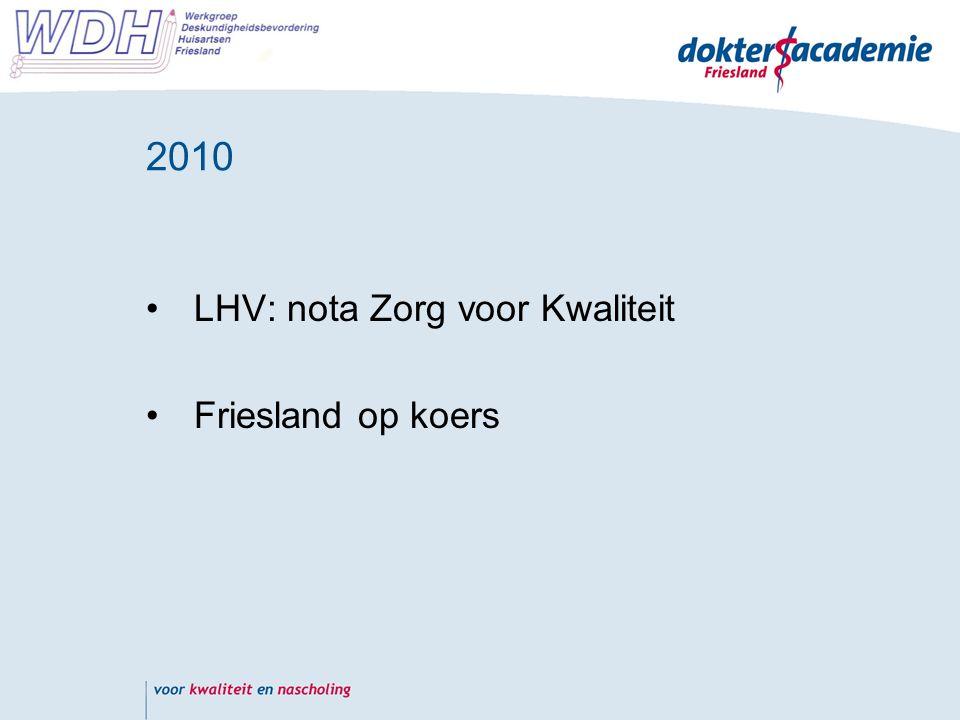 2010 LHV: nota Zorg voor Kwaliteit Friesland op koers
