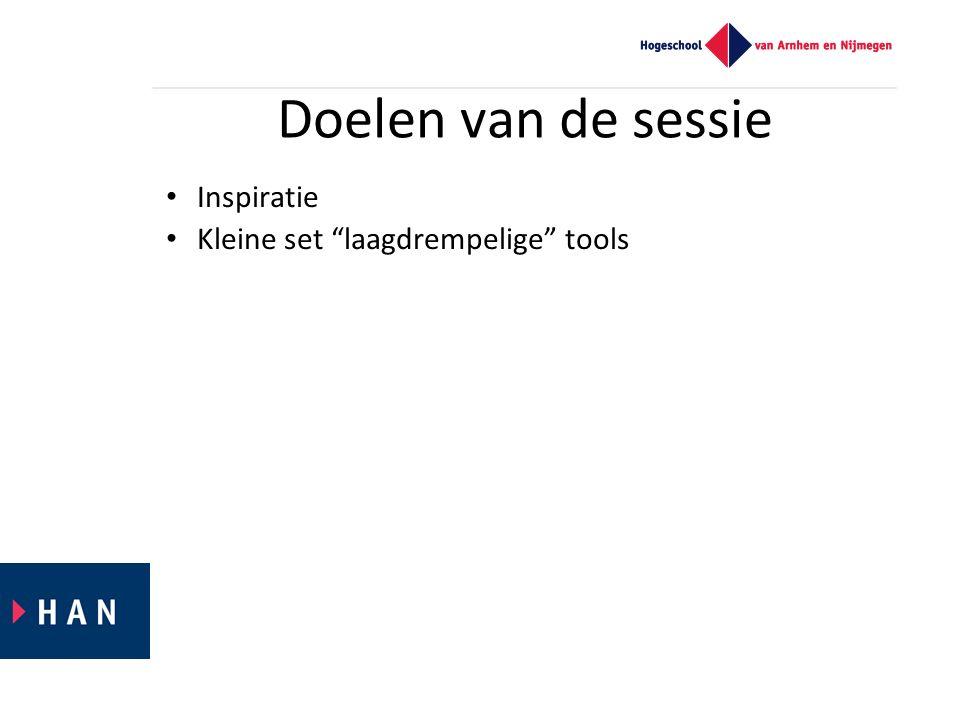 Programma Carrousel met voorbeelden: – presenteren –interactie & bewegingsanalyse – delen & samenwerken