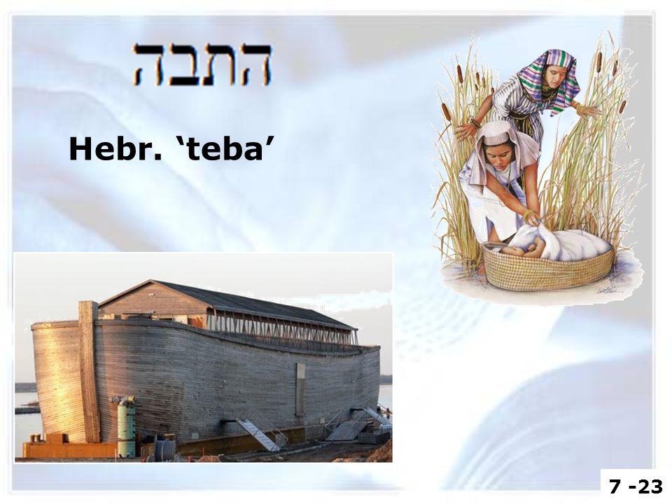 Hebr. 'teba' 7 -23
