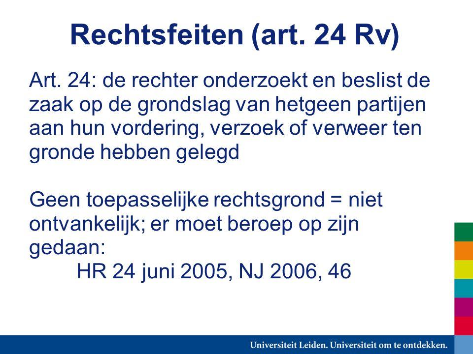 Rechtsfeiten (art. 24 Rv) Art.