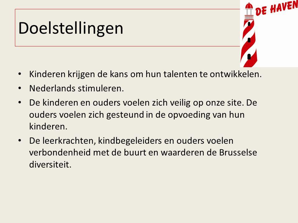 Doelstellingen Kinderen krijgen de kans om hun talenten te ontwikkelen. Nederlands stimuleren. De kinderen en ouders voelen zich veilig op onze site.