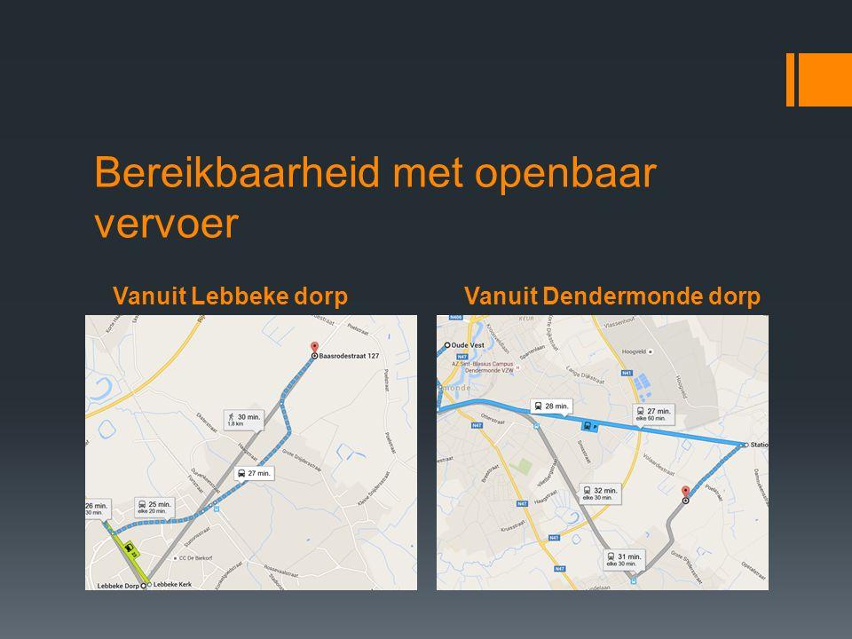 Vanuit Lebbeke dorpVanuit Dendermonde dorp Bereikbaarheid met openbaar vervoer
