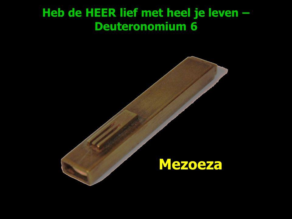 Heb de HEER lief met heel je leven – Deuteronomium 6 Mezoeza