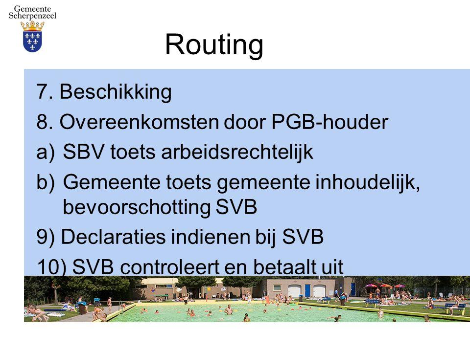 Routing 7. Beschikking 8.
