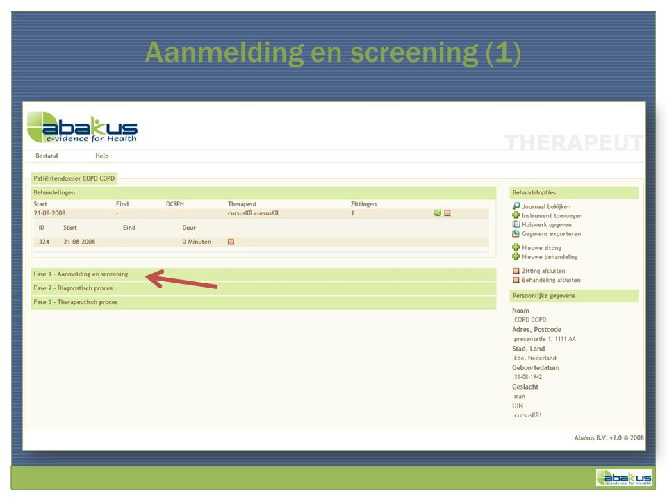 Aanmelding en screening (1)