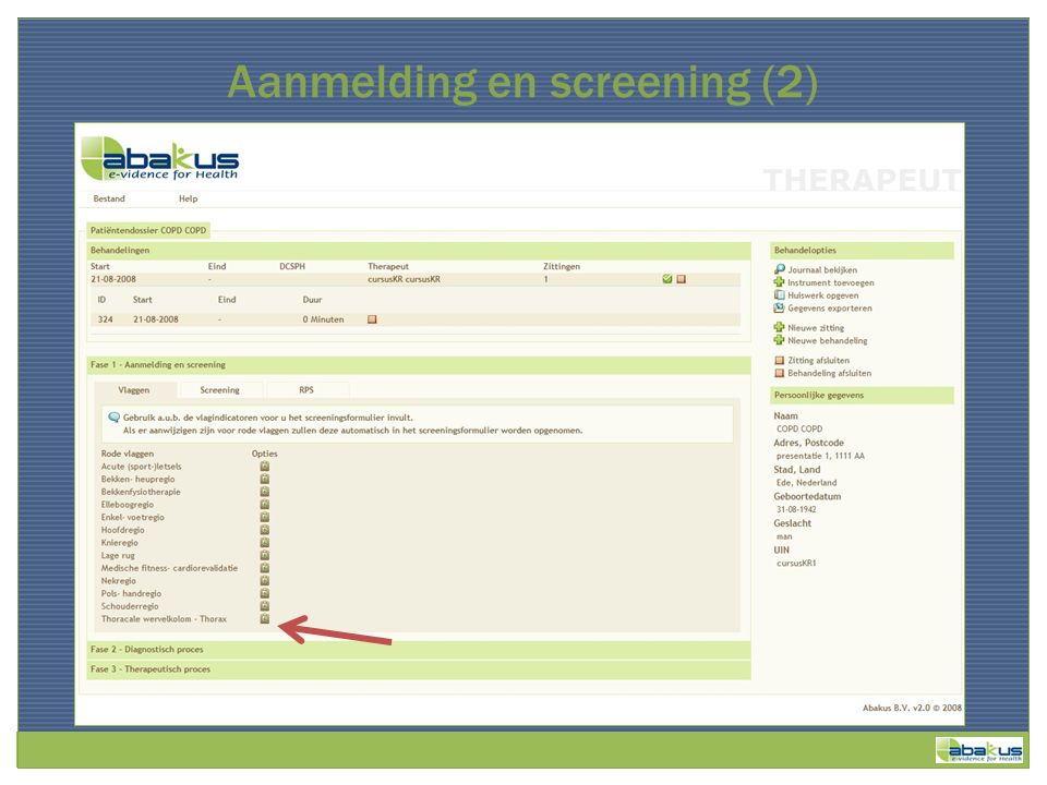 Aanmelding en screening (2)