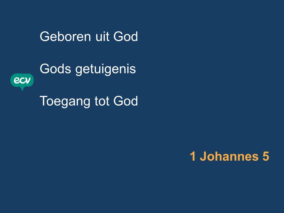 Geboren uit God Gods getuigenis Toegang tot God 1 Johannes 5