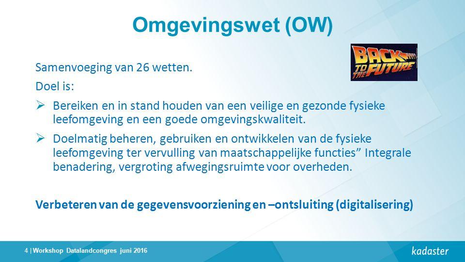 4 | Omgevingswet (OW) Samenvoeging van 26 wetten.