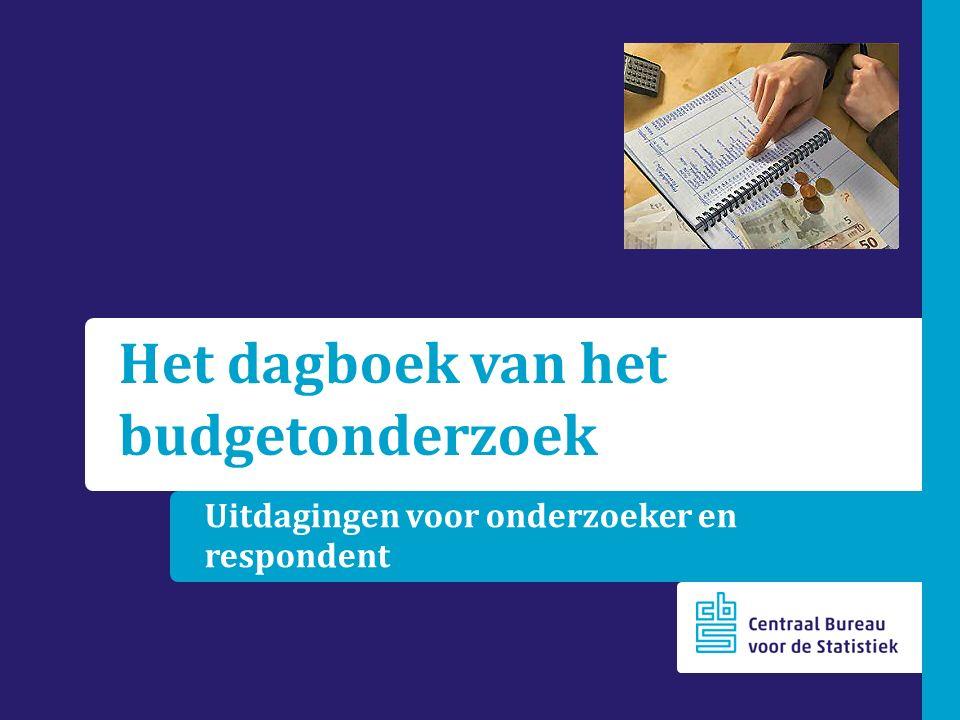Uitdagingen voor onderzoeker en respondent Het dagboek van het budgetonderzoek