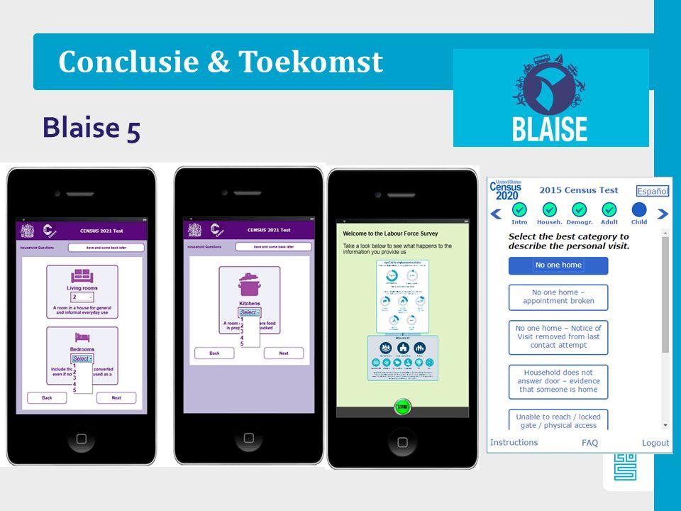 Conclusie & Toekomst Blaise 5