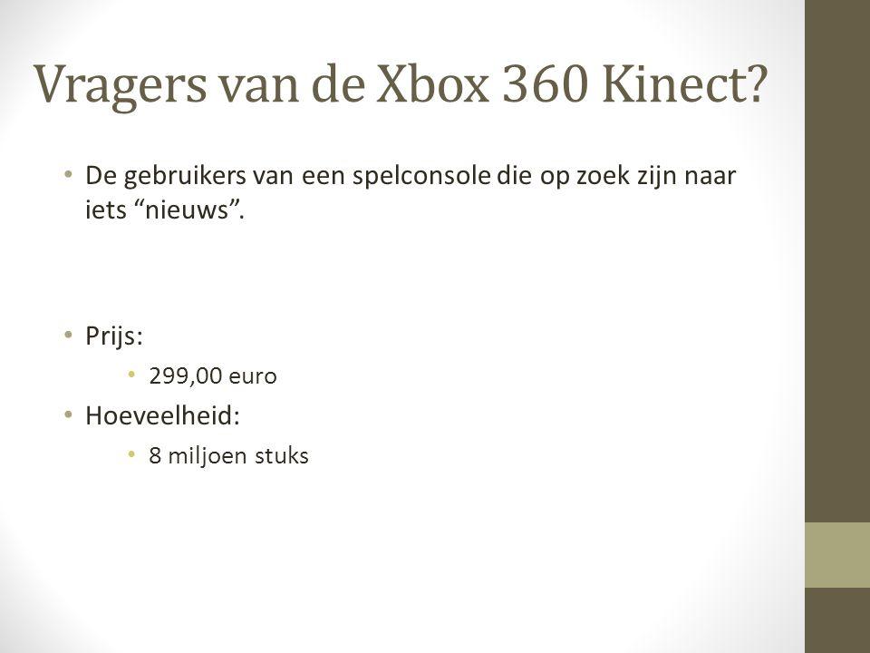 Vragers van de Xbox 360 Kinect.