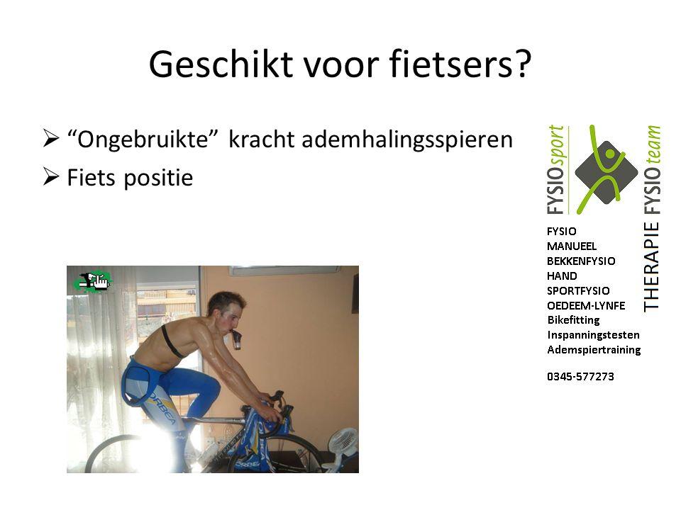 """Geschikt voor fietsers?  """"Ongebruikte"""" kracht ademhalingsspieren  Fiets positie"""