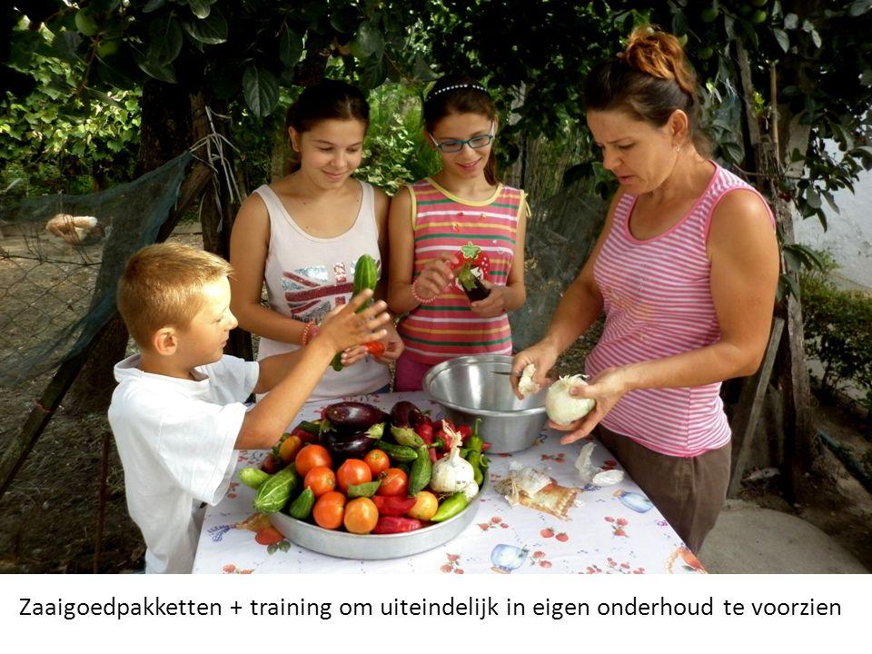 Zaaigoedpakketten + training om uiteindelijk in eigen onderhoud te voorzien