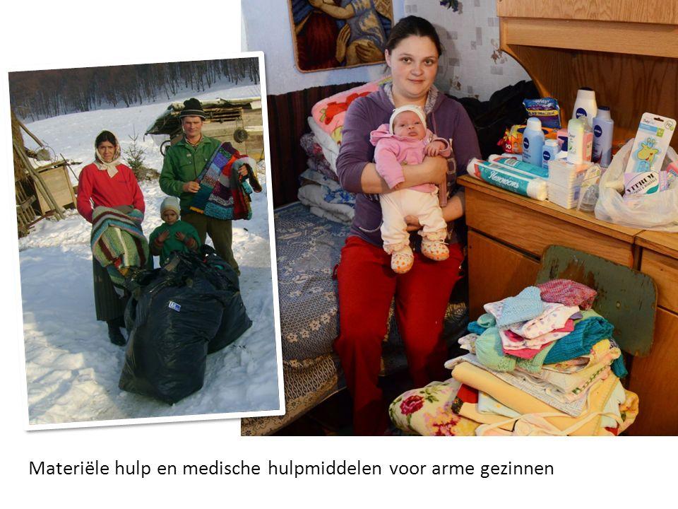Materiële hulp en medische hulpmiddelen voor arme gezinnen