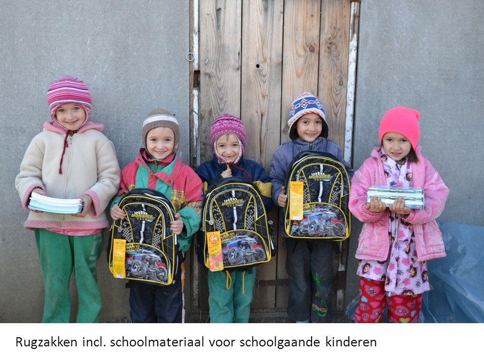 Rugzakken incl. schoolmateriaal voor schoolgaande kinderen