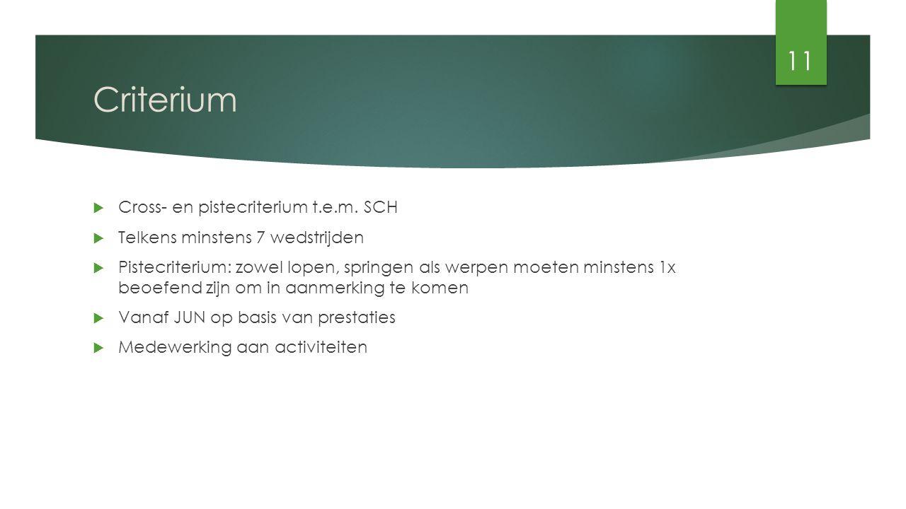Criterium  Cross- en pistecriterium t.e.m.