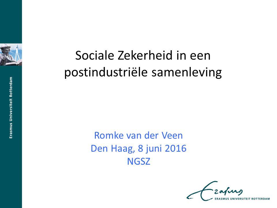 Sociale Zekerheid in een postindustriële samenleving Romke van der Veen Den Haag, 8 juni 2016 NGSZ