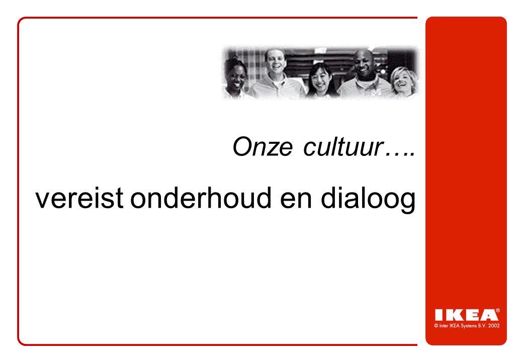 Onze cultuur…. vereist onderhoud en dialoog