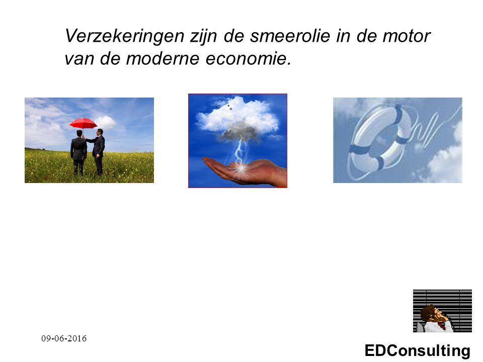 EDConsulting Verzekeringen zijn de smeerolie in de motor van de moderne economie. 09-06-2016