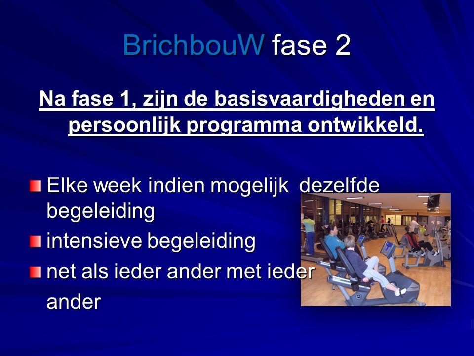 BrichbouW fase 2 Na fase 1, zijn de basisvaardigheden en persoonlijk programma ontwikkeld.
