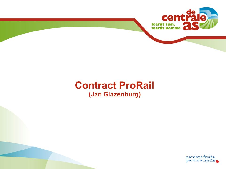 Contract ProRail (Jan Glazenburg)