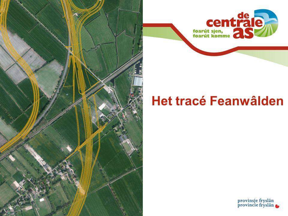 Het tracé Feanwâlden