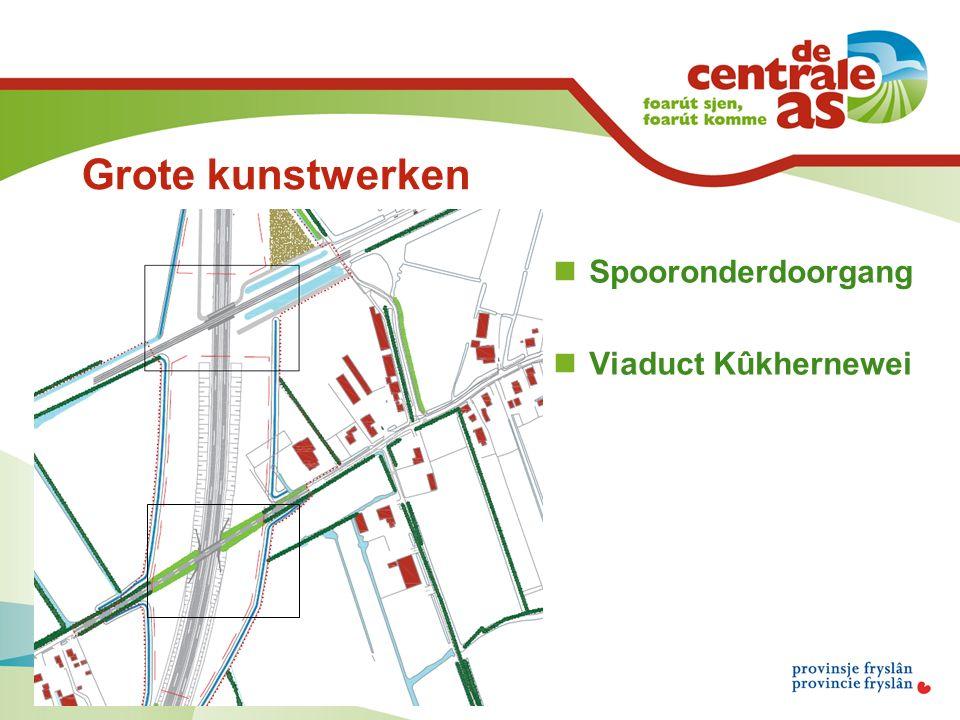 Grote kunstwerken Spooronderdoorgang Viaduct Kûkhernewei